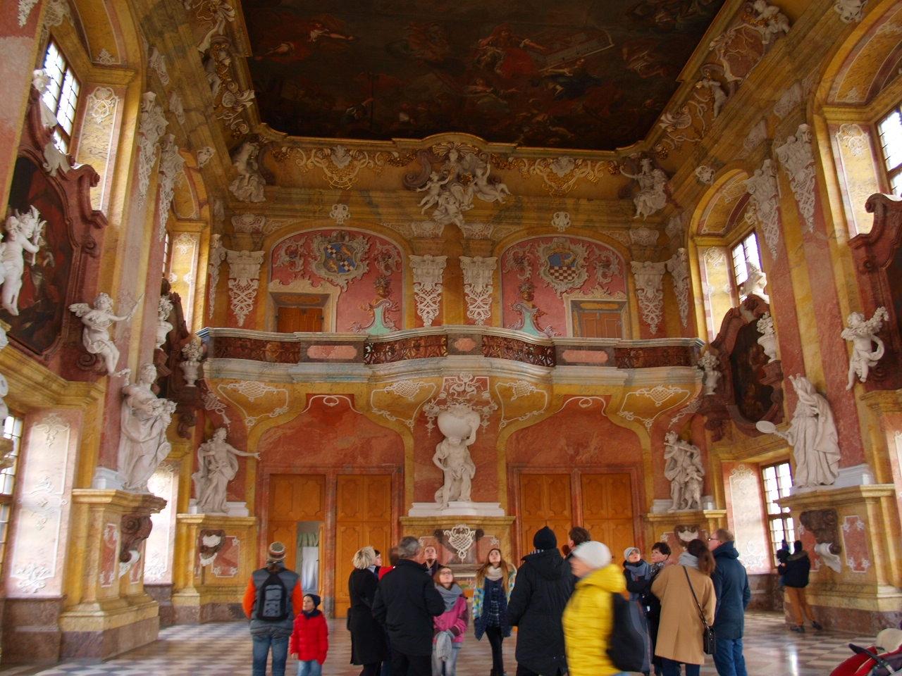 sala książęca w klasztorze w lubiążu