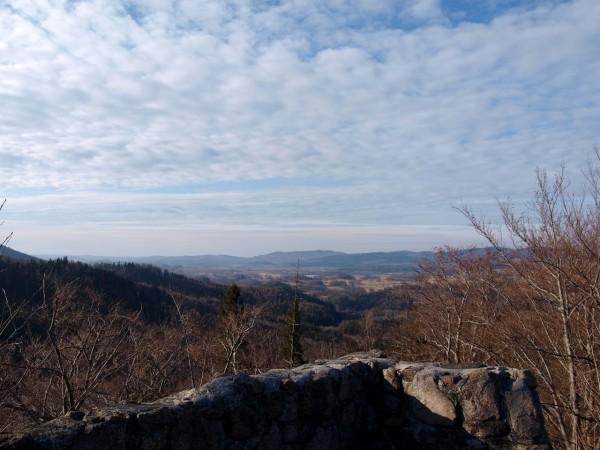 panorama karkonoszy z zamku bolczów