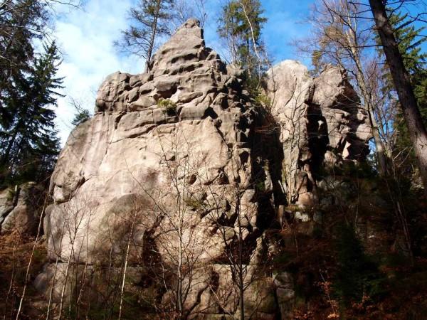 ścianki do wspinaczki w Rudawach Janowickich